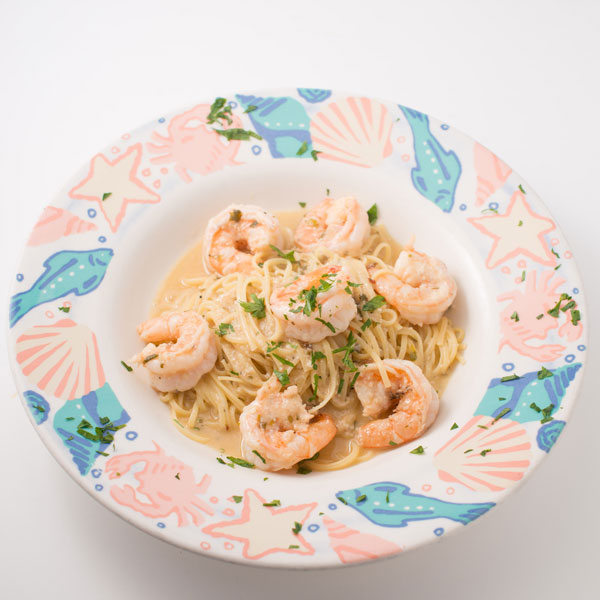 Shrimp & Linguine White sauce